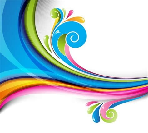 waves of color wave splash abstract vector background welovesolo