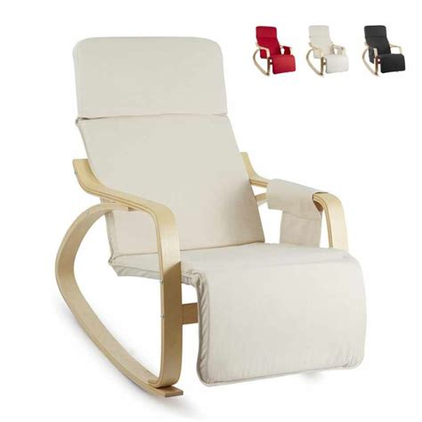 poltrone a dondolo in legno sedia a dondolo regolabile in legno relax ergonomica