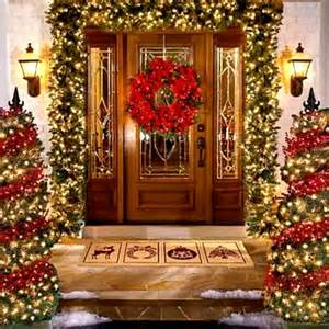 decorating wonderful christmas outdoor inspiring decorations outside enticing door decoration