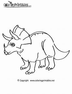 Triceratops Coloring Page A Free Dinosaur Coloring Printable