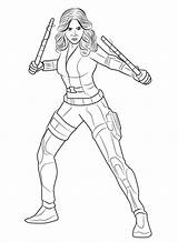 Coloring Widow Drawing Avengers Drawings sketch template
