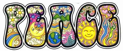 Peace Sticker Bumper Decal Dan Morris Hippie