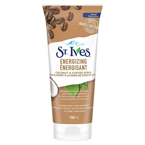Start your beauty regime with cleansing your body with this body wash from the real man. St Ives Energizing Coconut and Coffee Scrub, 6 oz ...