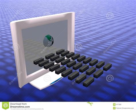 virtual computer virus spread stock photo image