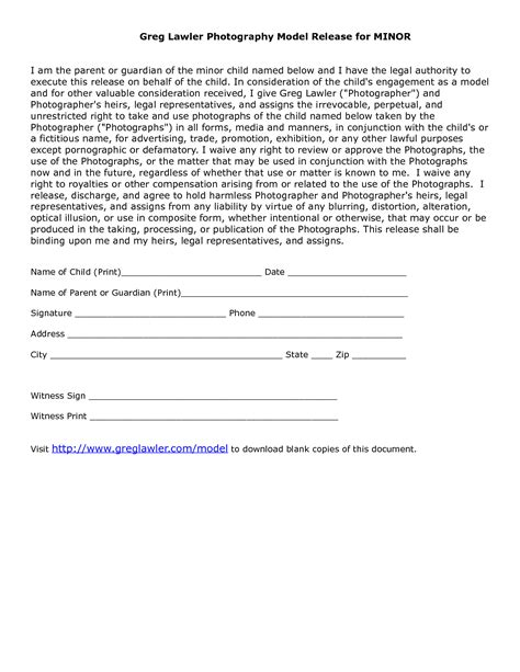 18579 release form for child minor model release form template link is broken but use