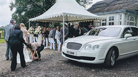 White Bentley Flying Spur Available For Weddings In Manchester