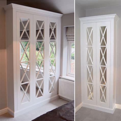 Mirrored Wardrobe Cabinet by Lattice Criss Cross Mirrored Wardrobe Handmade