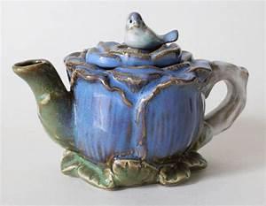 Stuff To Treasure: Ceramic Flower Teapot with Bird