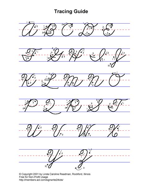 Writing Cursive Letters  Alphabets Without Pictures Alphabets Dotted Lines Uppercase Lowercase