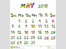 May 2017 calendar stock vector Illustration of background