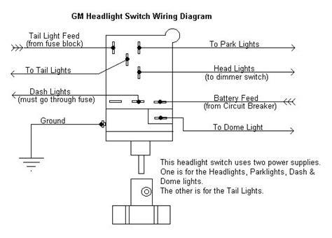 Light Switch Diagram Gm by Diagram Chevy Brake Light Switch Wiring Wiring Diagram