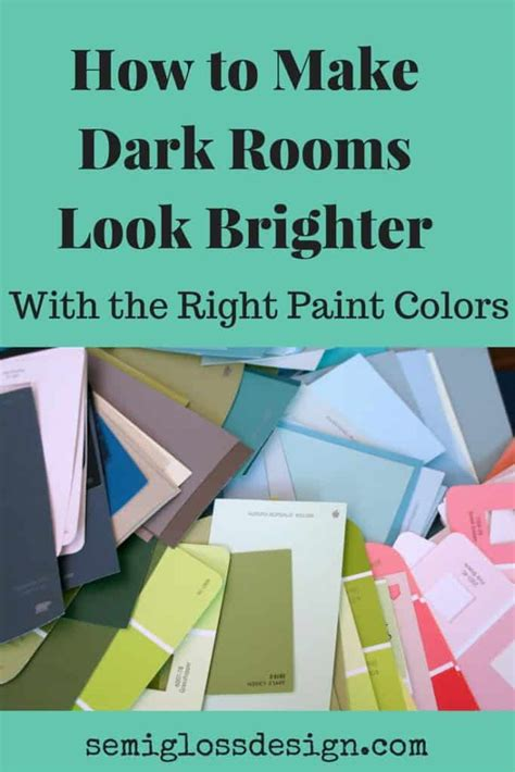 make dark rooms look brighter by choosing colors with high lrv