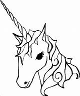 Unicorn Horn Drawing Coloring Clipartmag sketch template