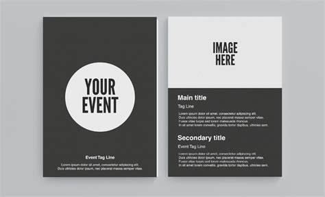 circle flyer template   face media group