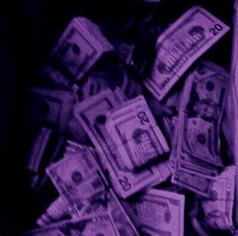 purple money aesthetic