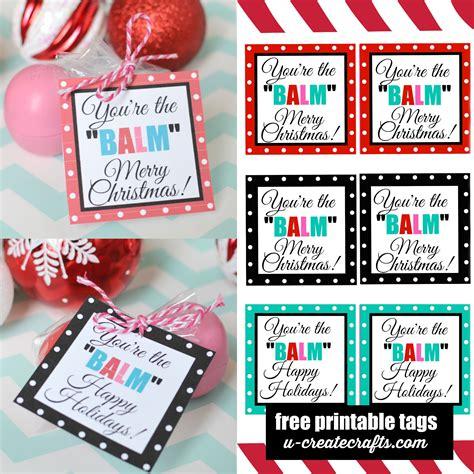 youre  balm christmas printables  create