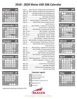 maize board education sets district calendar