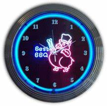 Neon Food Clocks Food And Drink Neon Clocks