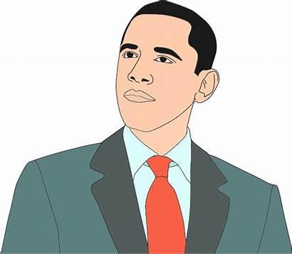 Obama Clipart Barack Portrait Vector African Clip