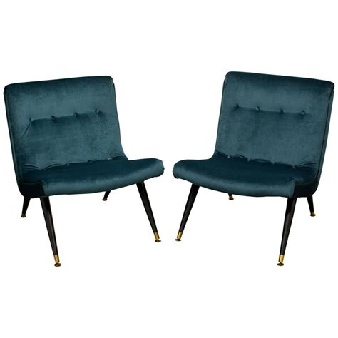 milo baughman exceptional scoop lounge chairs pair at 1stdibs