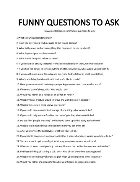 91 Funny Questions To Ask  Spark Conversations With Humor