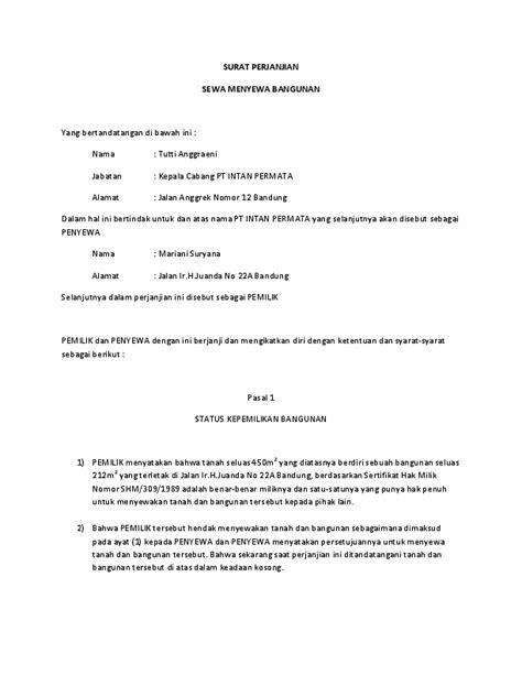 surat perjanjian sewa menyewa bangunan muhammad