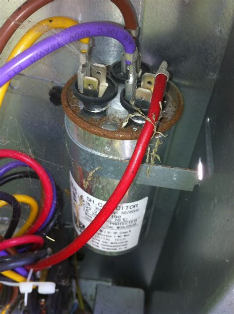 Central Air Conditioner Capacitor Wiring by Air Conditioner Capacitor Connections Outside Air