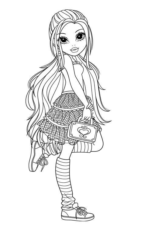 moxie girlz coloring pages card ideas coloring pages