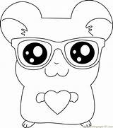 Coloring Pages Sunglasses Hamtaro Wear Glasses Coloringpages101 Nerd Colouring Adult Anime Sun Template sketch template
