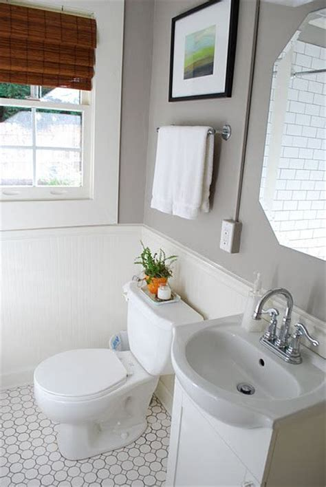 Paint Colors For Bathrooms With White Tile by This Gray Bathroom Paint On The White Subway Tile