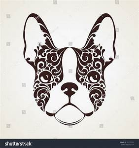Ornamental Decorative Dog French Bulldog Stock Vector ...