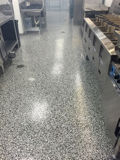 Epoxy Broadcast Flooring   Advanced Concrete Coatings