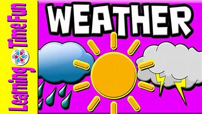 Weather Kinds Philippines Clipart Learn Types Kindergarten