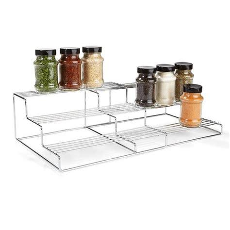 kmart kitchen storage chrome extendable 3 tier shelf kmartnz 3587