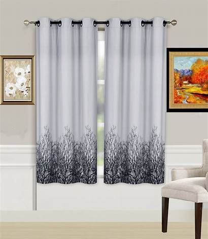 Length Curtain Grommet Window Blackout Panels Printed