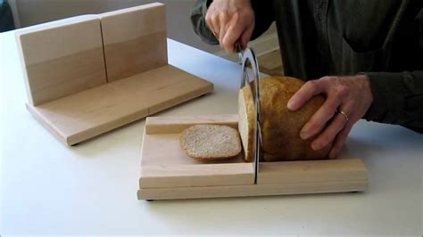 stainless steel with cutting board the elite bread slicer from the bread slicer youtube