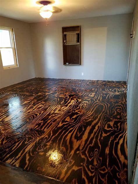 Plywood Sheet Flooring, Bob Schoenfelder, Burned Plywood