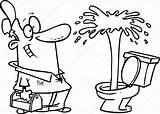 Cartoon Geyser Plumber Toilet Admiring Drawing Vector Illustration Depositphotos Google Getdrawings Ronleishman sketch template