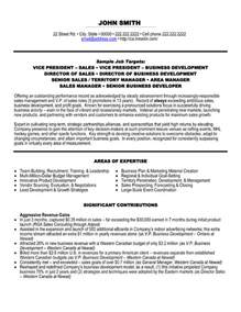 ceo executive resume sles vp sales resume sle template