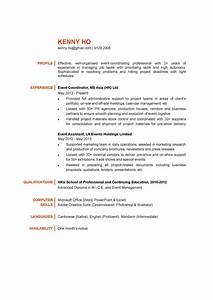 Event coordinator cv ctgoodjobs powered by career times for Events manager job description template