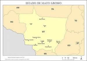 Mapa de Mato Grosso | Baixar Mapas