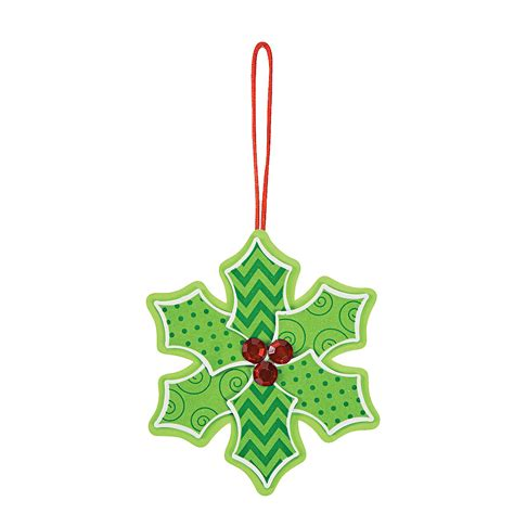 patterned holly christmas ornament craft kit oriental