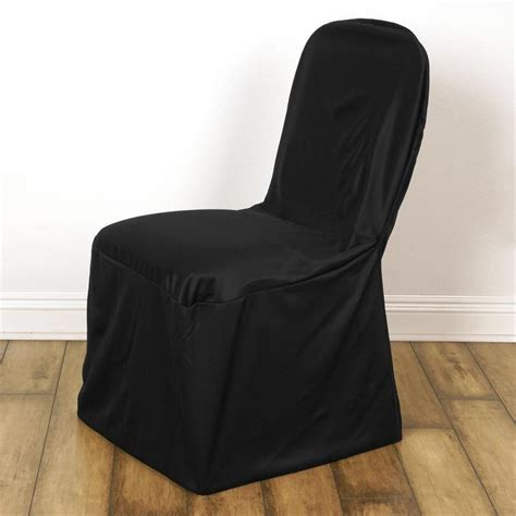 black stretch scuba chair cover for banquet wedding
