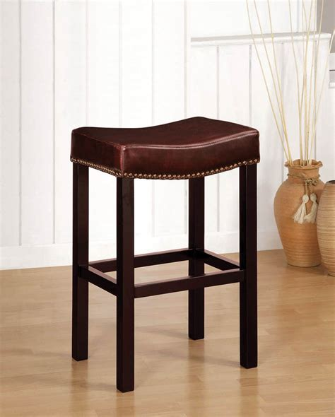 backless leather counter stools tudor backless counter stool antique brown leather 4247