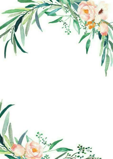 watercolor flowers details moldura floral desenho
