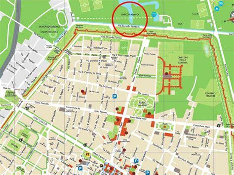 varie mappe ferrara fe parco urbano giorgio bassani