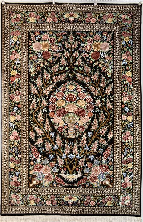 Qom Rugs by Tree Of Life Qum Silk Persian Rug Item Da 1810