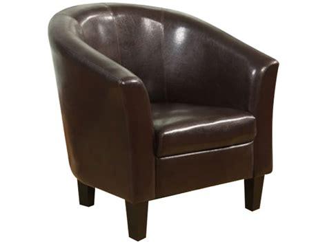 brown faux leather armchair sofa seat tub club chair