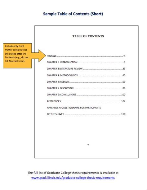 content template 20 table of contents templates and exles template lab