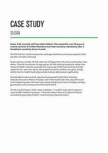 Examples of health and safety case studies pgbarixfc2com for Mental health case study template